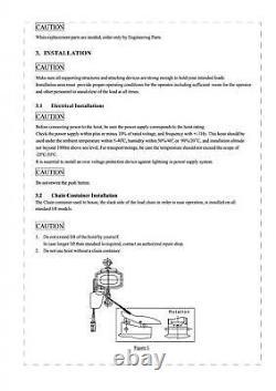 0.5 Ton Electric Chain Hoist 220V 3M (Single Phase Lifting Hoist 500KG Pulley)