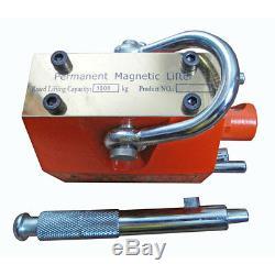 1000KG Permanent Magnetic Lifter Lifting PML Magnet Hoist Crane Heavy Duty 1Ton