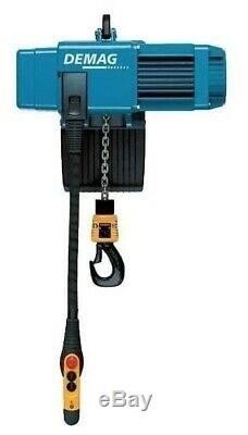 1000kg Demag Electric Chain Hoist- 1 Ton Eye Suspension Mounted Yaplex