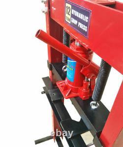12/20Ton Heavy Duty Hydraulic Press Workshop Garage Shop Jack Machine Floor Type