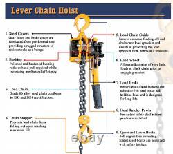 1-1/2 Ton Lever Hoist 15' Lift Black Bear
