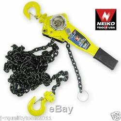 1 1/2 Ton Ratcheting Lever Block Chain Hoist Come Along