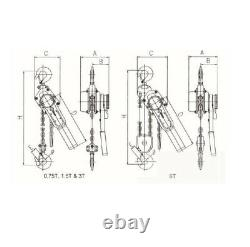 1.5 Ton 1.5Mtr Ratcheting Lever Block Chain Hoist Puller Pulley E075 S2u