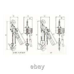 1.5 Ton 1.5Mtr Ratcheting Lever Block Chain Hoist Puller Pulley E150 GEC
