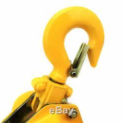 1.5 Ton Lever Block Chain Hoist Ratchet Type Come Along Puller 10FT Lifter 1-1/2