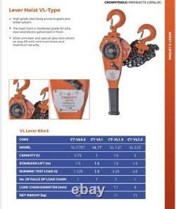 1.5 Ton Lever Block Chain Hoist Ratchet Type Comealong Puller Lifter