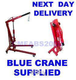 1 T Ton Tonne Folding Engine Crane Hoist Lift Stand Heavy Duty Euro Spec