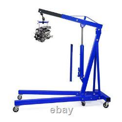 1 Ton Adjustable Hydraulic Folding Engine Crane Stand Hoist Lift Jack with Wheel
