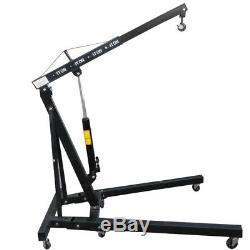 1 Ton Black Hydraulic Lift Folding Engine Crane Stand Hoist Engine Lift Jack