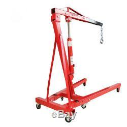 1 Ton Folding Hydraulic Engine Crane Hoist Lift Garage Workshop Repair With Pump
