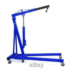 1 Ton Load Capacity Hydraulic Folding Engine Crane Hoist Lift Stand Lifter Jack