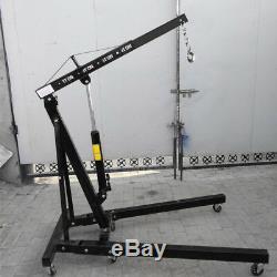 1 Ton Tonne BLK Hydraulic Folding Engine Crane Stand Hoist lift Jack Multi-angle