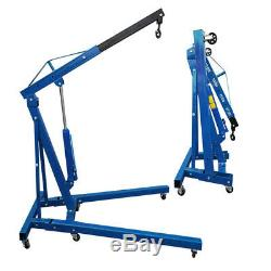 1 Ton Tonne Folding Crane Hydraulic Engine Hoist Lift Lifting Mobile Garage Jack