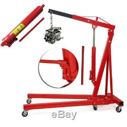 1 Ton Tonne Hydraulic Folding Engine Crane Hoist Lift Jack Workshop Construction