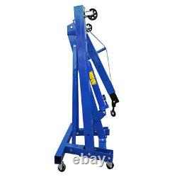 1 Ton Tonne Hydraulic Folding Engine Crane Stand Hoist lift Jack Lifting Machine