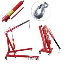 1 Ton Tonne Mobile Lifting Hydraulic Folding Engine CraneHoistStand Lift Tools