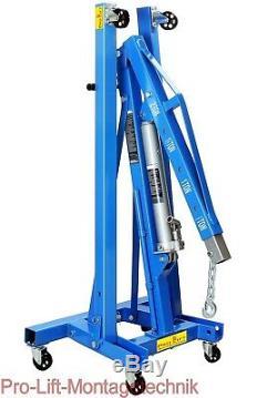 2000kg Werkstattkran faltbar Kran Motorkran foldable crane blue 2ton CE2TJ 02203
