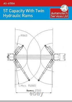 2 POST LIFT / CAR VEHICLE RAMP / HOIST 5 TON / 5000Kg CAPACITY / 3 STAGE ARMS