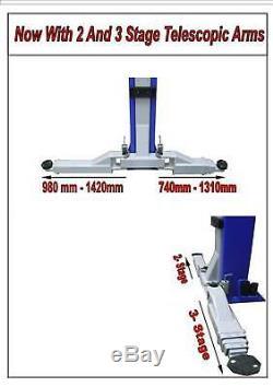 2 Post Lift / Car Vehicle Ramp / Hoist 4 Ton 4000kg Baseless / Clear Floor