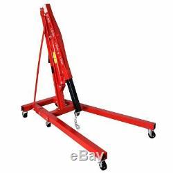 2 TON Red 4000 lb Engine Motor Hoist Cherry Picker Shop Crane Lift