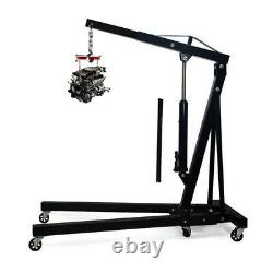 2 Ton 2000kg 2T Hydraulic Folding Engine Crane Hoist Lift Stand Garage Workshop