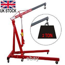2 Ton Engine Crane Motor Hoist Lift Lifter Lifting Foldable Hydraulic Workshop