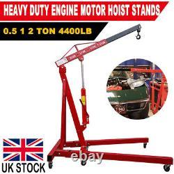 2 Ton Hydraulic Engine Crane Motor Hoist Lift Lifter Stand Foldable Heavy Duty