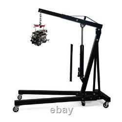 2 Ton Hydraulic Engine Crane Stand Hoist lift Jack Garage Folding Adjustable Arm