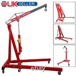 2 Ton Hydraulic Folding Engine Crane Hoist Lift Lifter Jack Stand Workshop UK