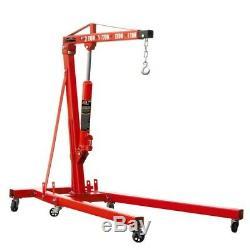2 Ton Hydraulic Folding Engine Crane Hoist Lift Stand BEC2000