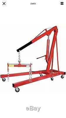 2 Ton Hydraulic Folding Engine Crane Hoist Lift Stand + Load Leveller Boxed New