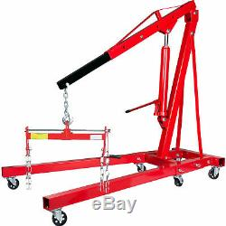 2 Ton Hydraulic Folding Engine Crane Hoist Lift Stand with 450kg Load Leveller