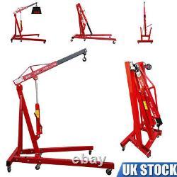 2 Ton Hydraulic Folding Engine Motor Crane 2000KG Stand Hoist lift Jack Workshop