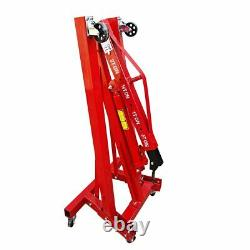 2 Ton Hydraulic Folding Engine Motor Crane Stand Hoist lift Jack Workshop Garage