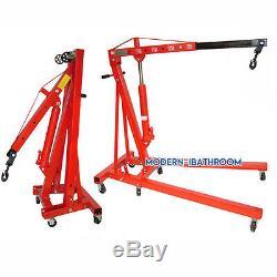 2 Ton Professional Folding Engine Crane /Hoist /Lift Stand Foldable Cart 4000LBS