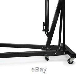 2 Ton Tonne Foldable Hoist Lift Jack Hydraulic Engine Crane Stand Garage Black
