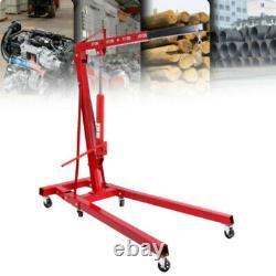 2 Ton Tonne Foldable Hydraulic Engine Motor Crane Stand Hoist lift Jack Workshop
