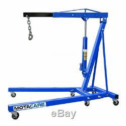 2 Ton Tonne Hydraulic Folding Engine Crane Stand Hoist Lift Jack Adjustable