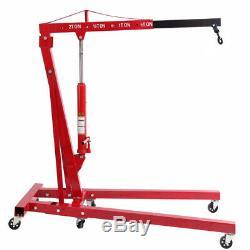 2 Ton Tonne Hydraulic Folding Engine Crane Stand Hoist Lift Jack Garage Workshop