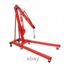 2 Ton Tonne Hydraulic Folding Engine Motor Crane Stand Hoist lift Jack Workshop