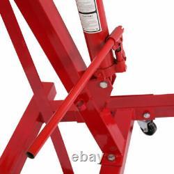 2 Ton Tonne Hydraulic Folding Engine Motor Crane Stand Hoist lift Jack with wheels