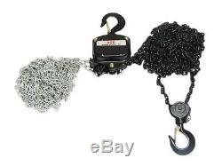 2 Ton x 10 Metre Chain Block 2000KG Lift Manual 1/2 Hand Tackle Hoist Brake