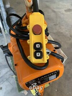 2 ton Electric Chain Hoist 4000 LB with 17 FT Chain 2 ton 230V single phase New