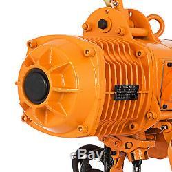 3Phase 220V 0.5 Ton 1100 lbs 10 Foot Lift Height Heavy Duty Electric Chain Hoist