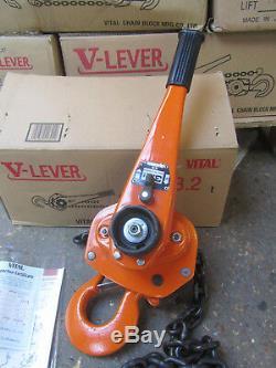 3 Ton Lever Hoist Pull Lift 3000KG Winch Lever Hoist Chain Hoist 1.5M Lift