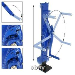 3 Ton mechanical jack hand hoist wind floor rack winds 3000kg steel winch pulley