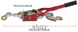 4-Ton Rachet Come Along Hand Winch, Portable Heavy-Duty Power Cable Puller Tool