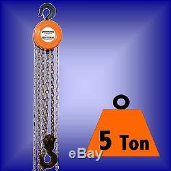 5 TON CHAIN HOIST BLOCK TACKLE ratchet engine winch 5t