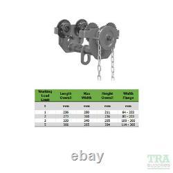 5 Ton Geared Push Trolley 5T Lifting Beam Hoist Girder Overhead 5000KG 6 Metre