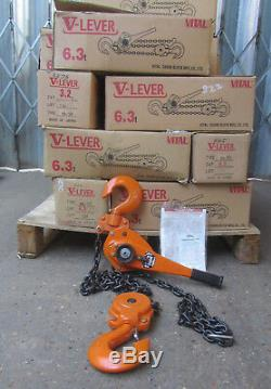 6 Ton Lever Hoist Pull Lift 6000KG Winch Lever Hoist Chain Hoist 1.5M Lift
